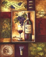 Valley Wine II Framed Print