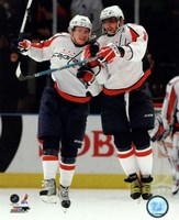 Alex Ovechkin & Nicklas Backstrom 2009-10 Action Fine-Art Print