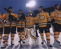 The Boston Bruins Post-Game Lineup 2010 NHL Winter Classic Fine-Art Print