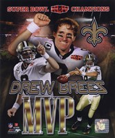 Drew Brees Super Bowl XLIV MVP Portrait Plus (#21) Fine-Art Print