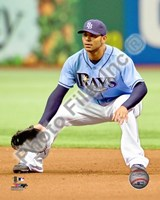 Carlos Pena 2010 Action On The Field Fine-Art Print