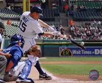 Brandon Inge 2010 hitting the ball Fine-Art Print