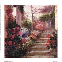 Rose Garden Steps Fine-Art Print