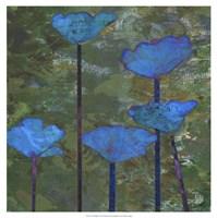 Teal Poppies I Fine-Art Print