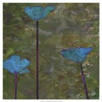Teal Poppies II Fine-Art Print