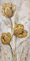 Golden Poppies on Taupe II Fine-Art Print