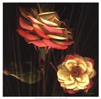 Red Floral Garden I Fine-Art Print