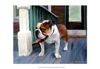 English on Porch Fine-Art Print