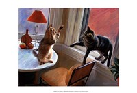 Cats Fighting Fine-Art Print