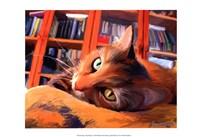 Kitty that Reads Fine-Art Print