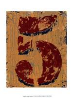 Vintage Numbers V Fine-Art Print