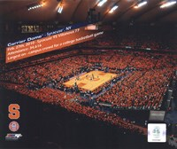 The Carrier Dome Record Breaking Crowd Syracuse Vs. Villanova with Overlay Fine-Art Print