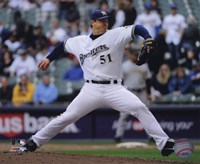 Trevor Hoffman 2010 Pitching Action Fine-Art Print