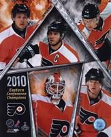 Philadelphia Flyers 2009-10 Eastern Conference Champions Team Composite Fine-Art Print