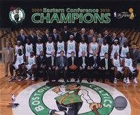 2009-10 Boston Celtics Team Photo with Eastern Conference Champions Overlay Fine-Art Print