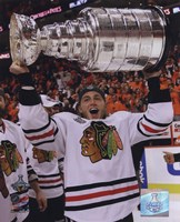 Patrick Kane with the 2009-10 Stanley Cup (#27) Fine-Art Print