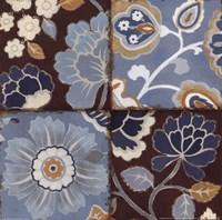 Patchwork Motif Blue II Fine-Art Print