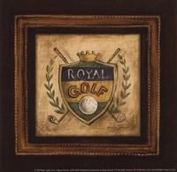 Golf Royal - petite Framed Print