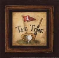 Golf Tee Time - petite Framed Print