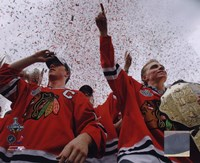 Jonathan Toews & Patrick Kane Chicago Blackhawks 2010 Stanley Cup Champions Victory Parade (#60) Fine-Art Print