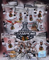 Chicago Blackhawks Stanley Cup Champions PF GOLD Fine-Art Print