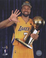 Derek Fisher with Championship Trophy in Studio (#28) Fine-Art Print