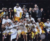 LA Lakers 2010 Finals Champs sit down Celebration (#32) Fine-Art Print