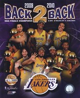 "Los Angeles Lakers ""Back-to-Back"" PF GOLD Limited Edition Fine-Art Print"