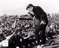 Elvis Presley on stage with fans (#1) Fine-Art Print