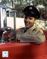 Elvis Presley Sitting in Car Wearing Uniform (#3) Fine-Art Print