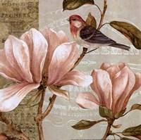 Magnolia Collage I - Mini Fine-Art Print