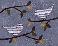 Aqua Songbirds II Fine-Art Print