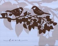 Chickadee Love  - mini Fine-Art Print