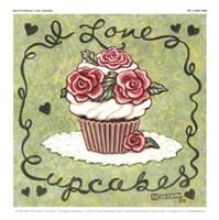 I Love Cupcakes Fine-Art Print
