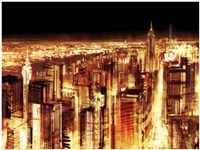 Manhattan Panoramic Nocturne (detail) Fine-Art Print