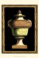 Jade Urn on Black III Fine-Art Print