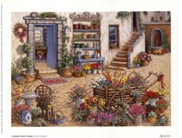 Courtyard Flower Shoppe Fine-Art Print