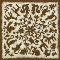 Folk Story in Brown Fine-Art Print