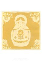 Russian Doll in Yellow Fine-Art Print