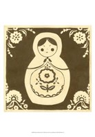 Russian Doll in Brown Fine-Art Print