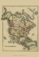 Small Antique Map of N. America (P) Fine-Art Print
