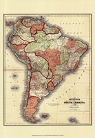 Small Antique Map of S. America (P) Fine-Art Print