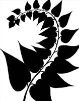 Leaf Silhouette IV Fine-Art Print