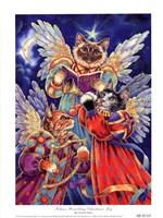 Felines Heralding Christmas Joy Fine-Art Print
