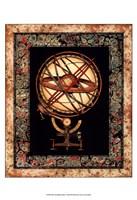 Globe with Marble Border I Fine-Art Print
