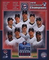 Minnesota Twins 2010 AL Central Champions Composite Fine-Art Print