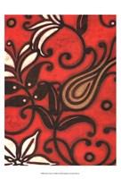 Scarlet Textile I Fine-Art Print