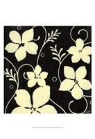 Black with Cream Flowers Fine-Art Print
