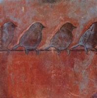Row of Sparrows II Fine-Art Print