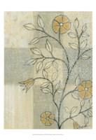 Neutral Linen Blossoms I Fine-Art Print